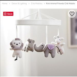 Pottery barn kids mobile and wooden arm